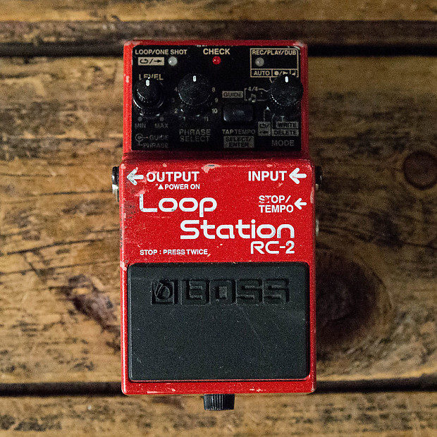 Boss rc-2 loop station guitar, bass, drums, or synth looper | reverb.