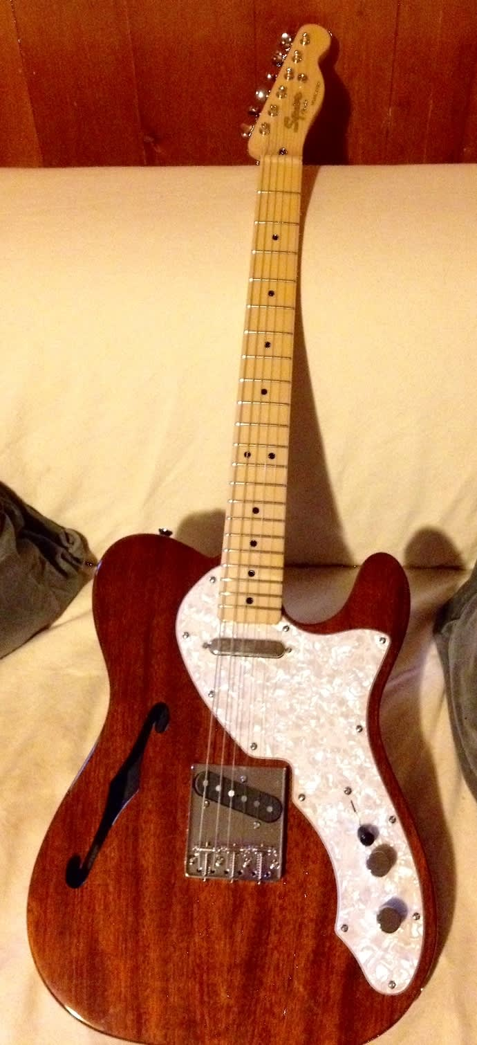 squier clic vibe thinline telecaster 2013 with fender cs reverb