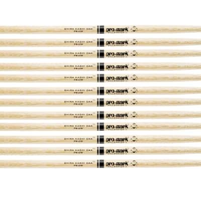 6 PACK Pro Mark Shira Kashi Oak Ja 'Jazz' Wood Tip Drum Sticks, Made in USA, PWJZW-6