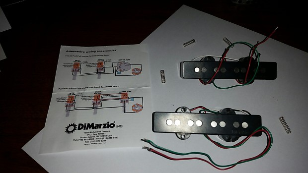 dimarzio ultra jazz bass pickup set