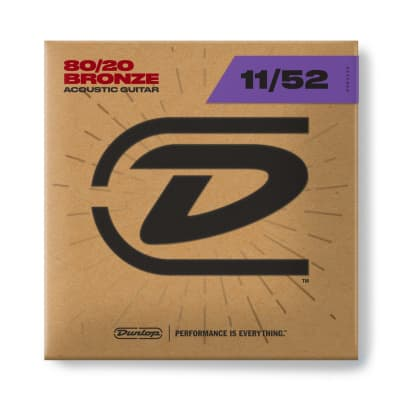 Dunlop 80/20 Bronze Acoustic Guitar Strings - 11-52