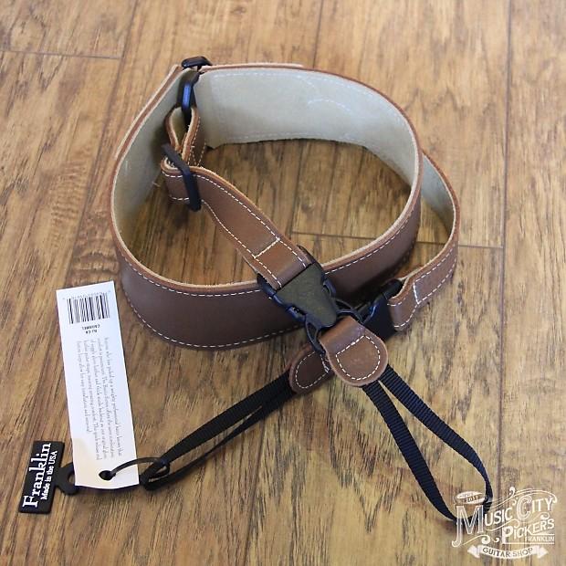 new franklin straps caramel glove leather banjo strap bj ca reverb. Black Bedroom Furniture Sets. Home Design Ideas