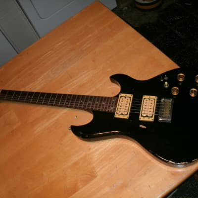 Madeira by Guild black solid body guitar for sale
