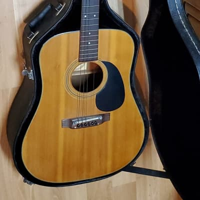Vintage Pan H590 1973 Acoustic Guitar with Hard Case! Rare for sale