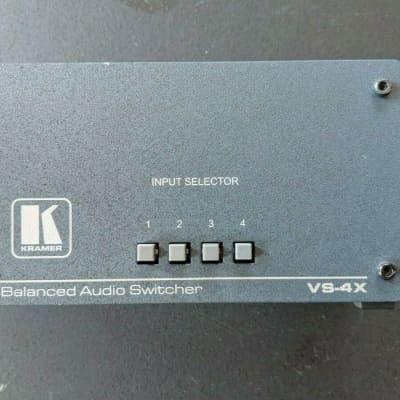 Kramer VS-4X 4x1 Balanced XLR Stereo Audio Mechanical Switcher