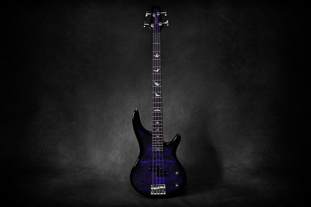ecc9503e04 Lindo PDB Purple Dove Electric Bass Guitar With Carry Case | Reverb