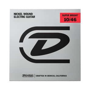 Dunlop DESBN1046 Super Bright Nickel Wound Medium .010-.046 Electric Guitar Strings (6 Set)