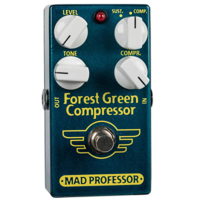USED MAD PROFESSOR FOREST GREEN COMPRESSOR WITH BOX for sale