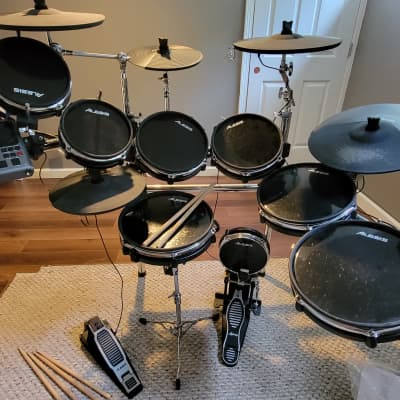 Alesis DM10 Pro Kit Electronic Drum Set w/extra toms and cymbals