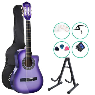 Alpha Classical 1/2 size Acoustic Guitar with Cutaway and Accessories pack - Purple Burst for sale