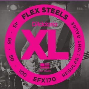 D'Addario EFX170 FlexSteels Long Scale Bass Guitar Strings, Light Gauge