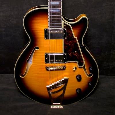 D'Angelico EX-SS 0104 2013 Sunburst Thinline Guitar w case