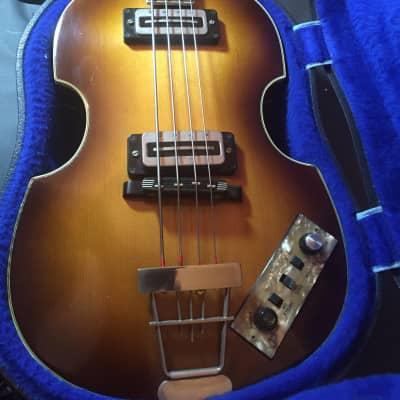 Hofner  500/1 Beatle Bass 1971 Low gloss natural wood