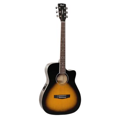 Cort AF520CE VS Cutaway Acoustic / Electric Guitar Vintage Sunburst C/w Pickup Vintage Sunburst
