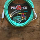 Pig Hog 10' Right Angle Instrument Cable Sea Foam Green image