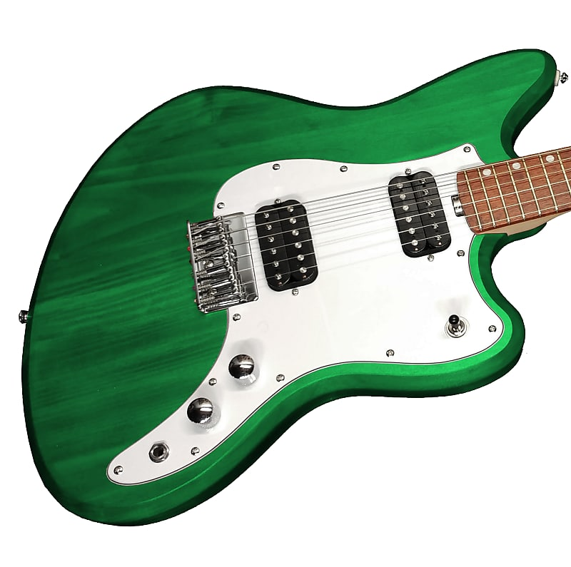 Lomic AP-1 Green Offset USA Hand-Made Bolt-on Guitar