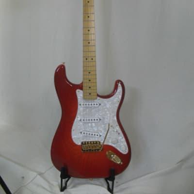 Logan Stratocaster 2021 Dark Red Cherry Burst for sale