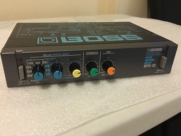 Boss Rps 10 Delay Pitch Shifter Half Rack Effects Processor