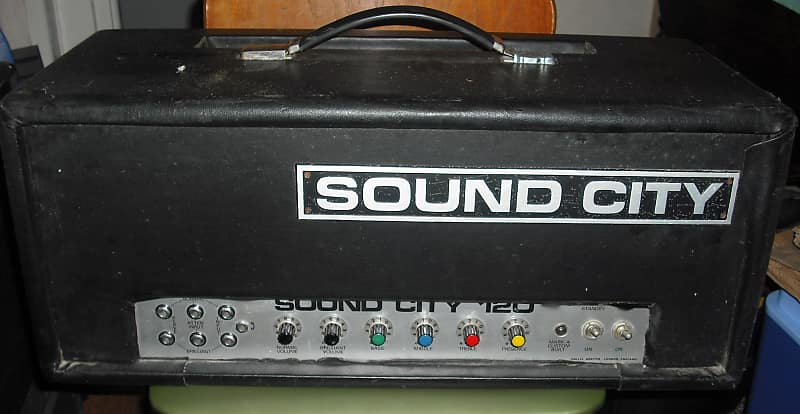 sound city 120 70s vintage valve bass amplifier guitar amp reverb. Black Bedroom Furniture Sets. Home Design Ideas