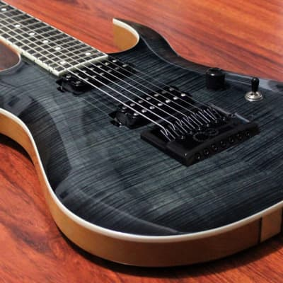 Halo Custom Guitars Merus 7 String Bare Knuckle True Grit Evertune Bridge Flamed Maple for sale