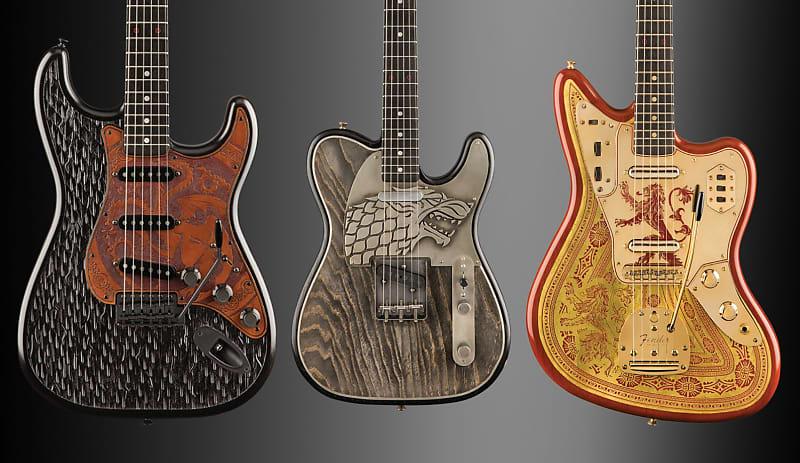 fender game of thrones sigil masterbuilt collection guitars reverb. Black Bedroom Furniture Sets. Home Design Ideas