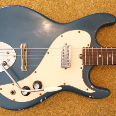 Vintage 1965 Kapa Cobra Blue Sparkle Electric Guitar Rare USA Made Worn In Cool! for sale