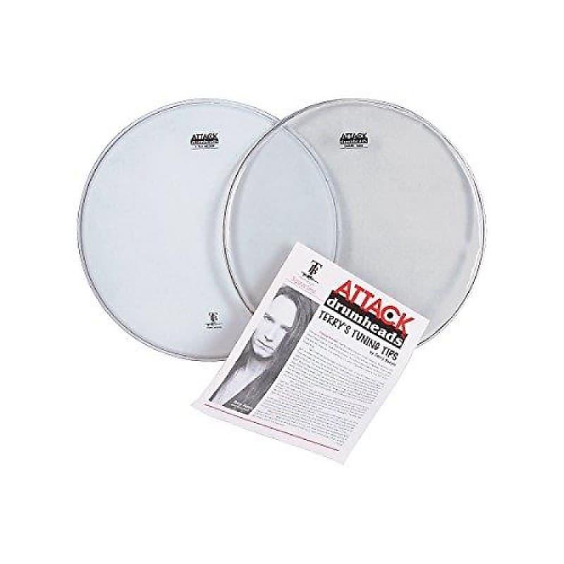 attack terry bozzio 2pc 14 drum head pack klash drums reverb. Black Bedroom Furniture Sets. Home Design Ideas