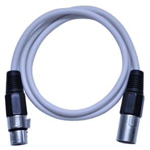 Seismic Audio SAXLX-3 XLR Male to XLR Female Patch Cable - 3'