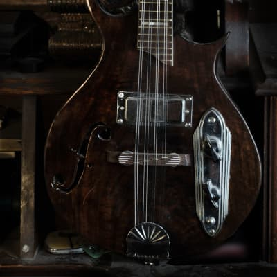 Postal Handmade Walnut Meteor Electric Mandolin
