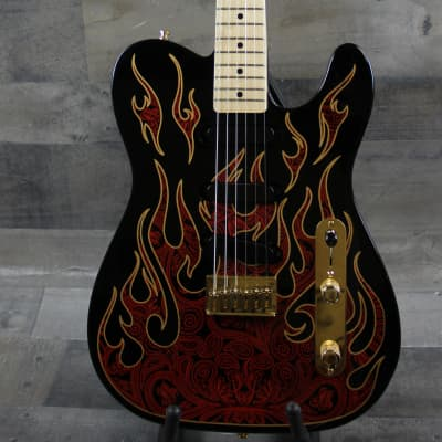 Fender James Burton Telecaster Artist Series 2017  Red Paisley Flames for sale