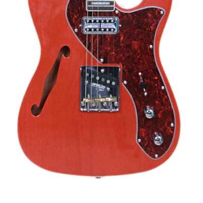 Revelation TSS  Transparent Orange Shortscale Thinline Electric Guitar for sale