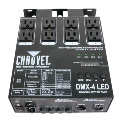 Chauvet DJ DMX-4 4-Channel Dimmer/Relay Pack Lighting Controller LED Fixtures for sale