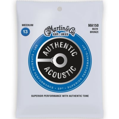 Martin Strings MA150 80/20 Bronze Acoustic Guitar Strings Medium 13-56 for sale