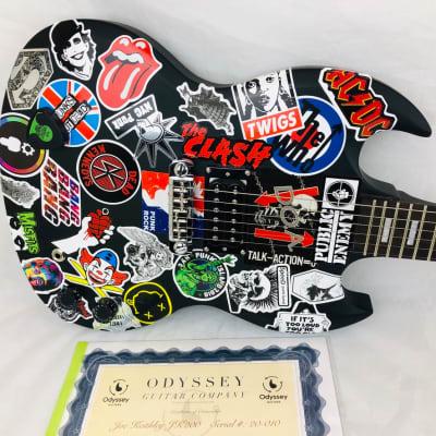 "Odyssey Joe Keithley D.O.A. JK200 Black 20-010 ""Sticky"" the Punk Sticked Guitar for sale"
