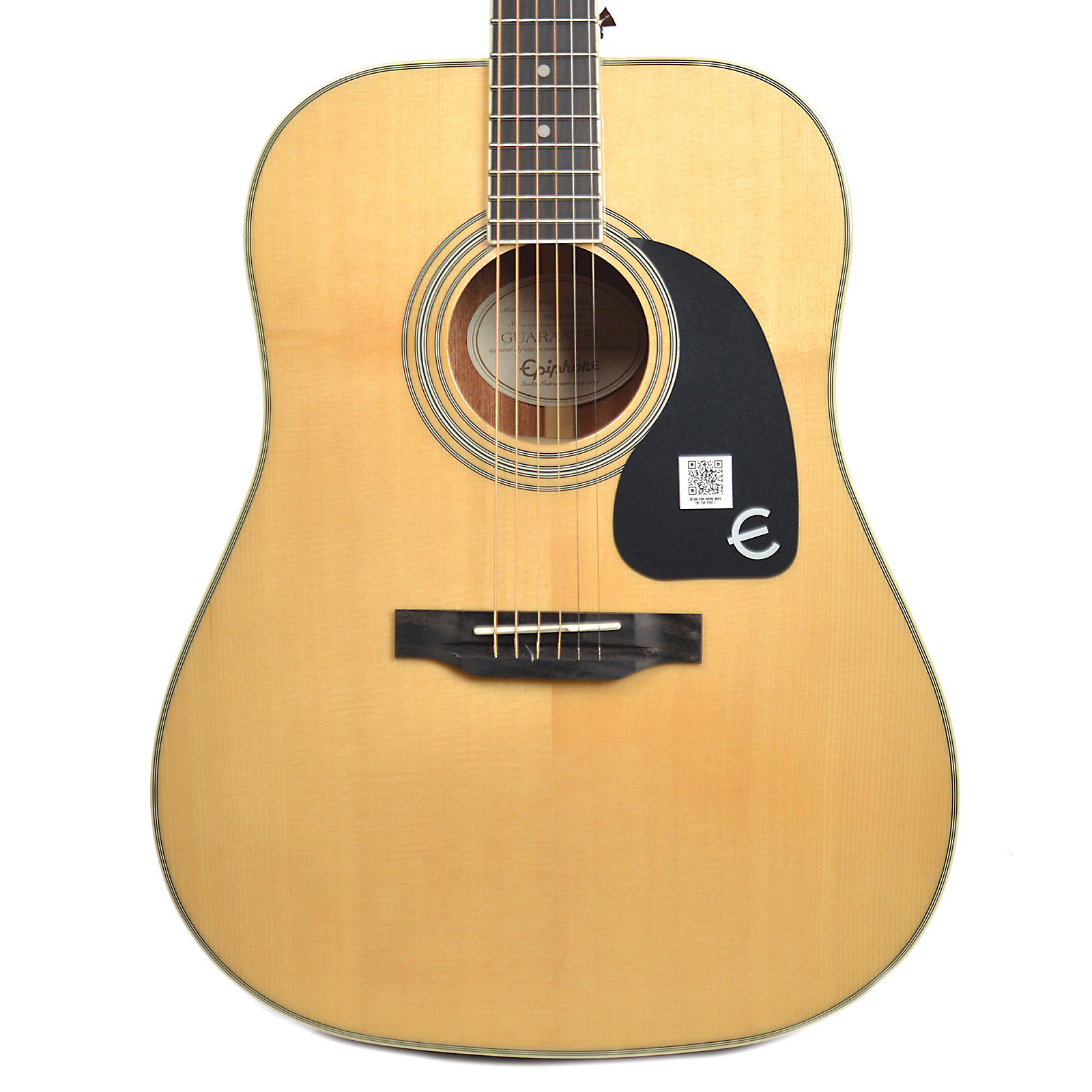 epiphone pro 1 plus dreadnought acoustic guitar natural reverb. Black Bedroom Furniture Sets. Home Design Ideas