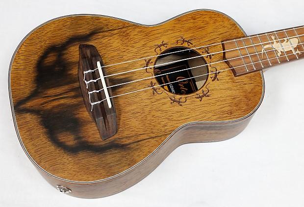 ortega lizard cc gb concert acoustic electric ukulele w gb reverb
