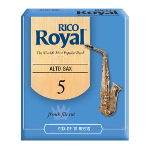 Rico RJB1050 Royal Alto Saxophone Reeds - Strength 5.0 (10-Pack)