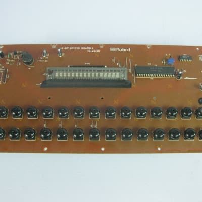 """Roland JX-8P Analog Synthesizer Switch Panel board """"LED is out but all switches works"""""""