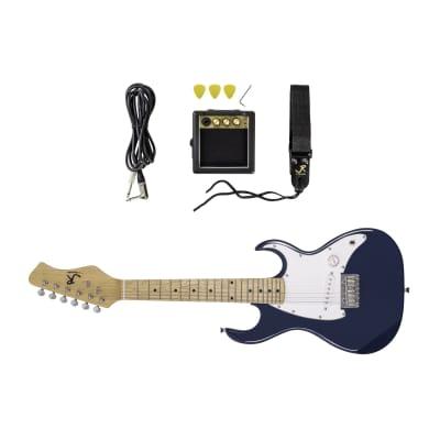 J. Reynolds Kids 1/2 Size Electric Guitar Prelude Package - Blue - JRPKSTBL for sale