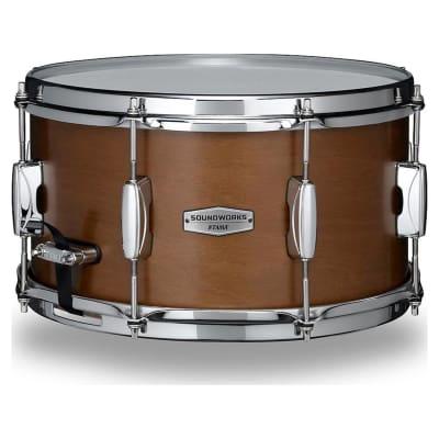 """Tama DKP137MRK Soundworks 7"""" x 13"""" Matte Brown Kapur Snare Drum"""