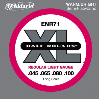 D\'Addario ENR71 Half Rounds Light Bass Strings