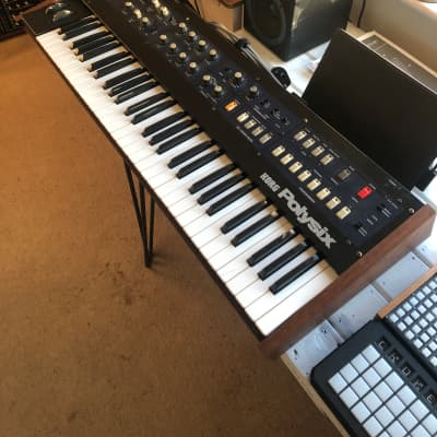 Korg PolySix with MIDI and Custom Walnut Wood Body