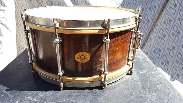 vintage ludwig wood snare drum calf skin heads reverb. Black Bedroom Furniture Sets. Home Design Ideas