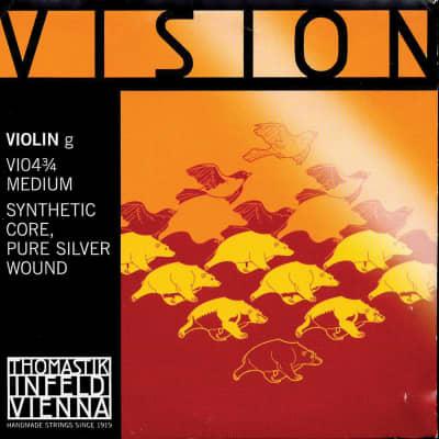 Thomastik-Infeld VI04 Vision Silver-Wound Synthetic Core 3/4 Violin String - G (Medium)
