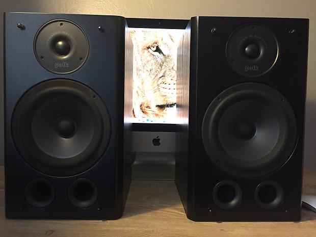 Polk Audio RT5 Studio Bookshelf Speakers Unknown Black Grey