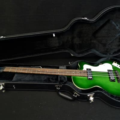 New Hofner Ignition PRO HI-CB-PE-GR Green Brst Club bass guitar LTD Edition Tea Cup's & Flats & CASE for sale