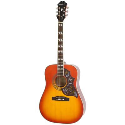 Epiphone Hummingbird Pro Acoustic/Electric Guitar Faded Cherry Sunburst