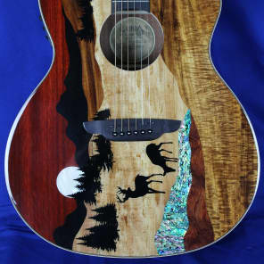 Luna Vista Deer Acoustic-Electric Guitar Natural