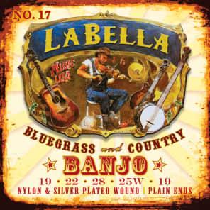 La Bella LB17 Nylon and SIlver Wound Banjo Strings