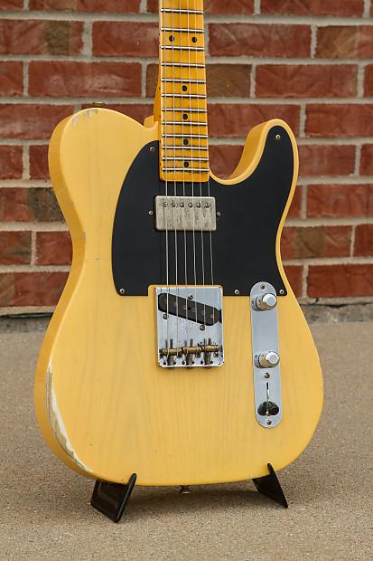 fender custom shop 52 telecaster nocaster relic vintage blonde